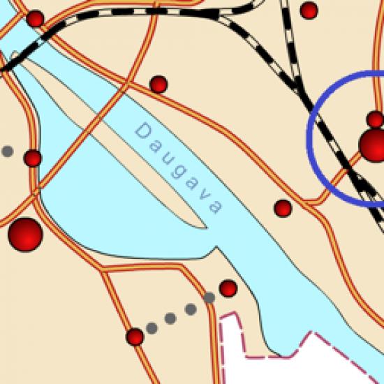 Daugavas Dienvidu tilta labā krasta pieejas krustojumu rekonstrukcija